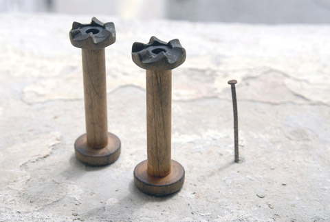 PaperPhine's Vintage Bobbins with Ratcheted Tops