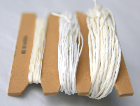 White Shades of Paper Yarn by PaperPhine