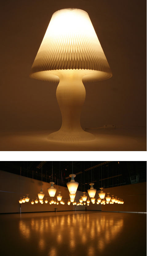 honeycomb lamp by kyouei design