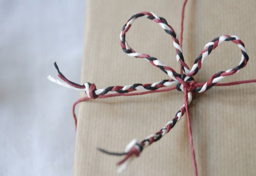 PaperPhine's Red, White and Black Paper Twine