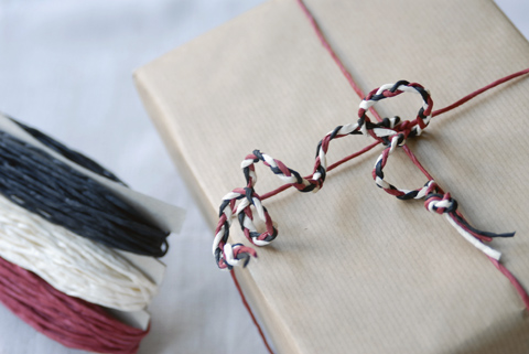 PaperPhine's Red, Black and White Paper Twine