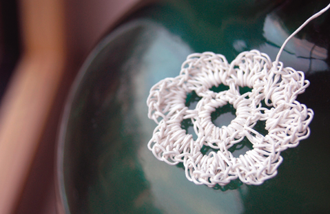 How to Crochet Paper Twine Flowers