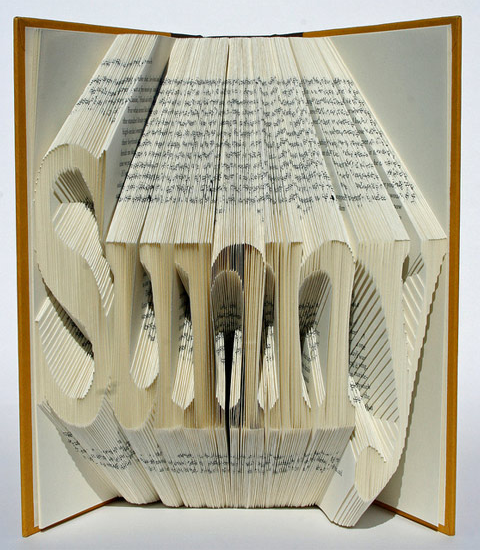 Book Art / Book Origami by Isaac Salazar