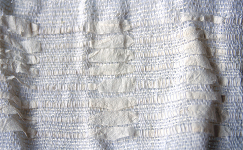 Handwoven Paper Yarn and Silk Fabric by PaperPhine / Linda Thalmann