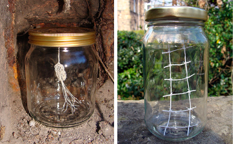 PaperPhine: Art Jar by Kristy Hall using Paper Twine