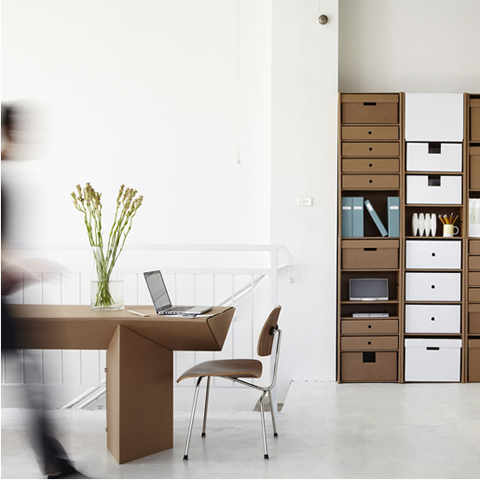 Storage and Desk by Karton Group