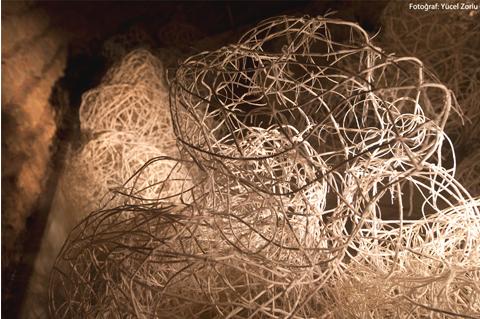 A new paper cord installation by Devran Mursaloglu
