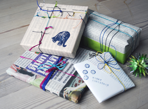 PaperPhine's Colorful Gift Wrapping with Paper Twines