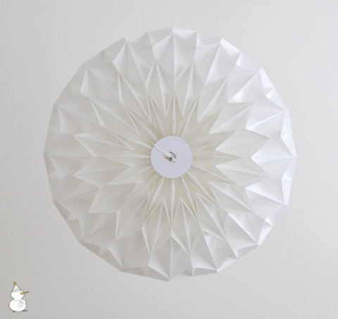 Signature Lampshade made of folded paper by Studio Snowpuppe