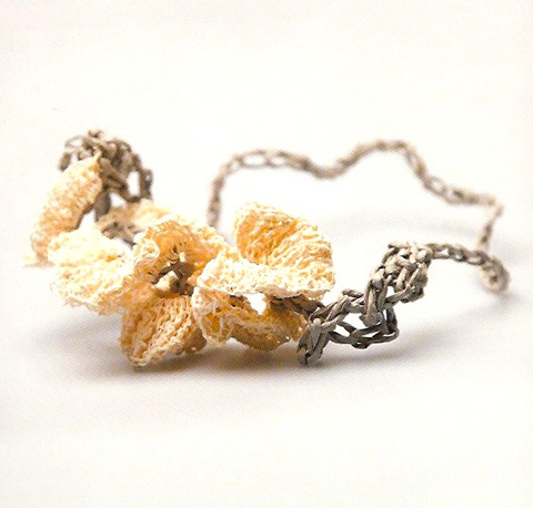 PaperPhine: Sarah Kelly: Paper Jewellery. Sally Collins: Superfrilly Crocheted Necklace