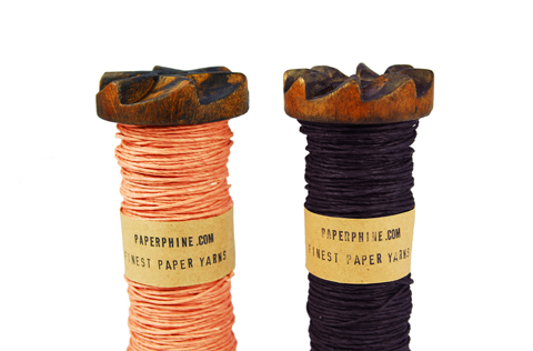 Made by PaperPhine: New Paper Twines in Coral and Aubergine