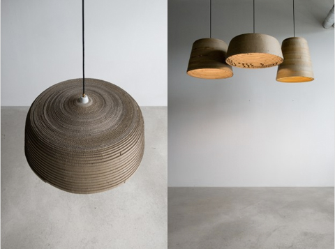 herrwolke: Beute lampshade made of cardboard