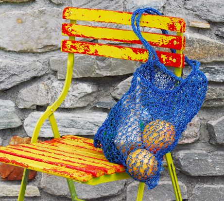PaperPhine: Knitted Paper Twine Tote Bag
