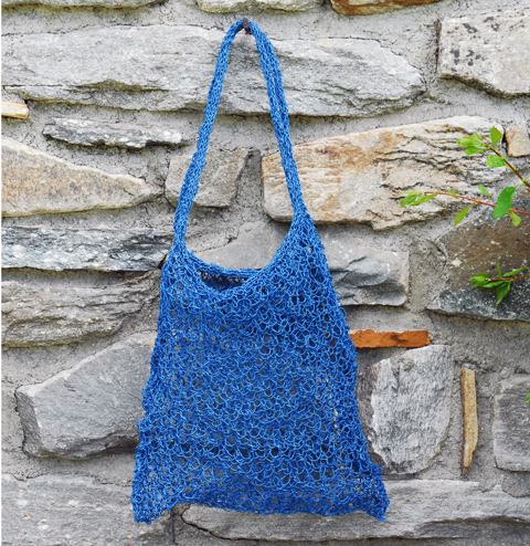 Made by PaperPhine: Knitted Paper Twine Bag