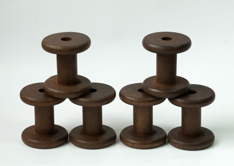 PaperPhine: New Stained Wooden Bobbins