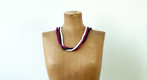 Made by PaperPhine: Paper Twine I-Cord Necklaces (DIY Kit)