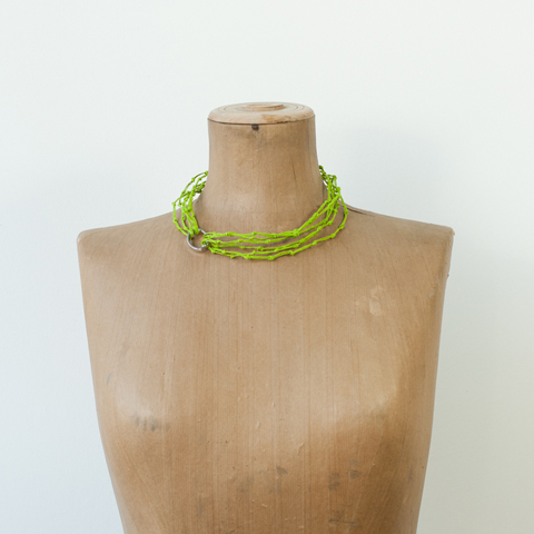 Made by PaperPhine: KNOT necklace made of Paper Twine