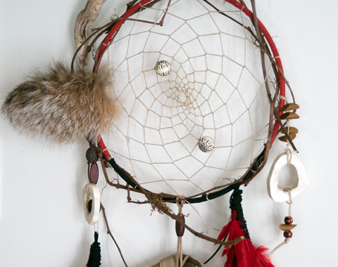 A Dreamcatcher made of Paper Twine by Linda Barabé