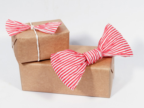 PaperPhine: Red White Striped Paper Cord - Gift Wrapping with Paper Rope