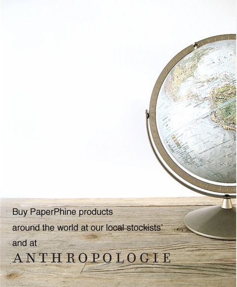PaperPhine Stockists and at Anthropologie
