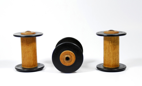 PaperPhine: 3 Old Bobbins / Spools