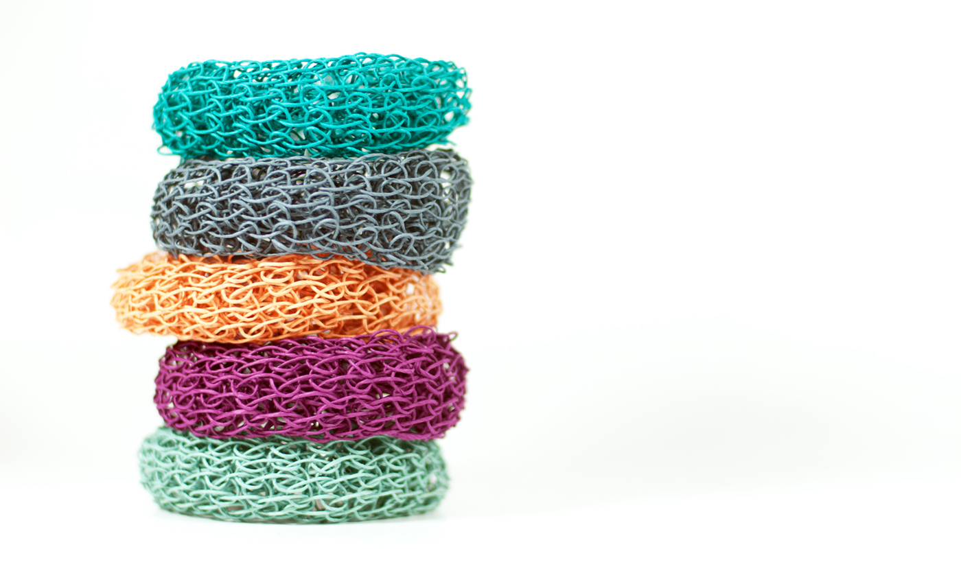 PaperPhine: DIY Knit Bangle Kit - Choose Your Colors - Paper Twine