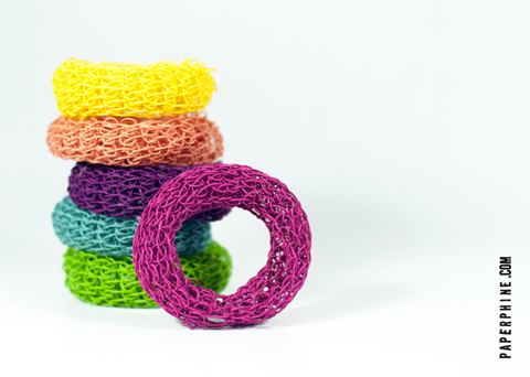 PaperPhine DIY Knit Bangle Kit with Paper Twine - personalize and choose your own colors