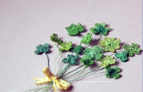 Giuliana Primavera: Finest Paper Yarn Shamrocks - Crochet - Paper Yarn - PaperPhine