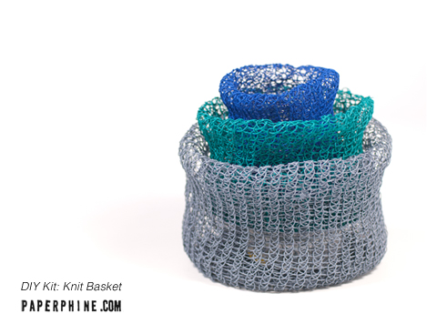 PaperPhine DIY Kit: Knit Basket - Paper Twine, Paper String, Paper Cord