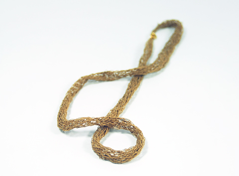 RefinedByRuth - Knitted Paper Yarn Necklace