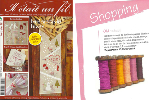 PaperPhine in Print: Il était un fil - PaperPhine in Media, Printed Media, DIY kit