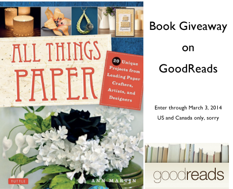 All Things Paper - Book Giveaway