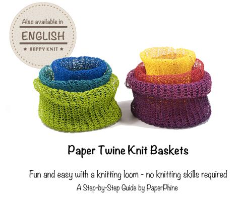PaperPhine Knitting Basket Pattern - Knitting Loom