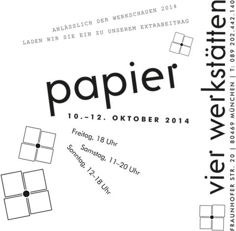 PaperPhine: werkschauen München 2014: zu Gast bei den vier Werkstätten