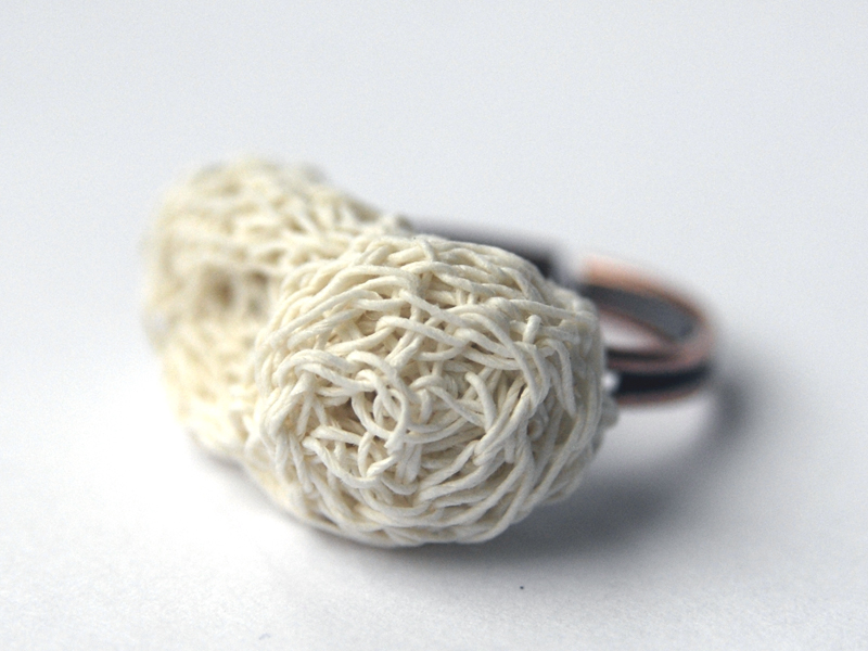 PaperPhine: Crochet Cocoon Ring made of Finest Paper Yarn