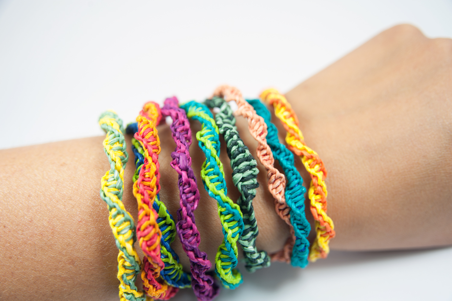 PaperPhine: Paperyarn DIY Kit - Friendship Bracelets - Macrame - DIY, Craft, Paper Jewelry