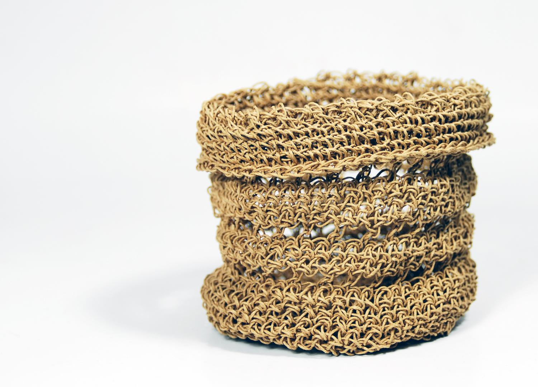 PaperPhine - Basket - Crochet - Papertwine Paperyarn - 01