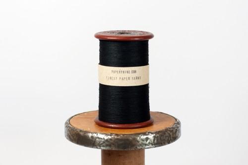 PaperPhine: Black Paper Yarn - Paperyarn - Paperthread - Papertwine - DIY
