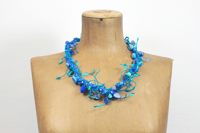 PaperPhine - Crochet Necklace - Paperjewelry - Paperjewellery - Evas Necklace - DIY - Paperyarn