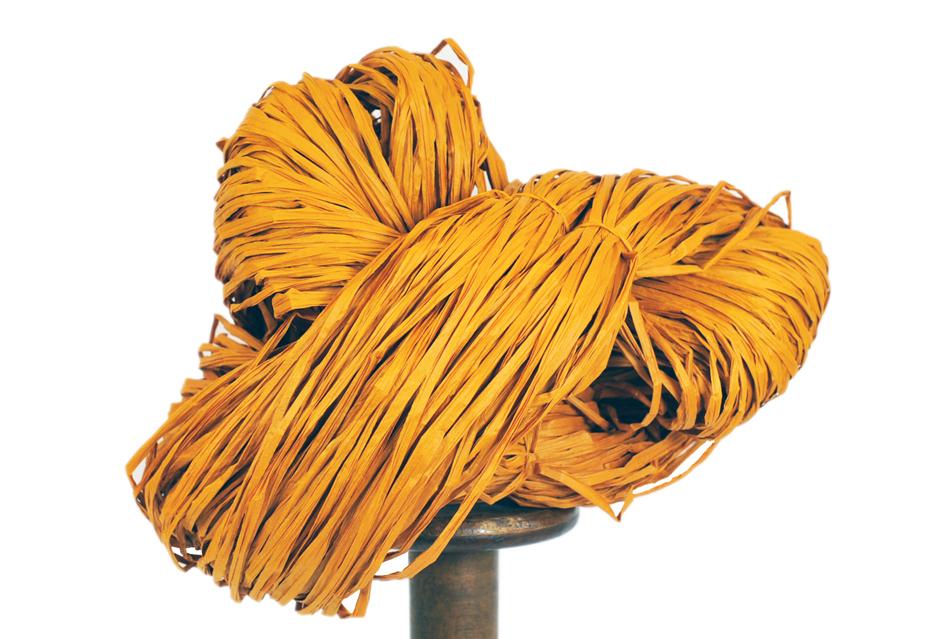 PaperPhine: Paper Raffia - Orange - DIY Knit Crochet Basketry