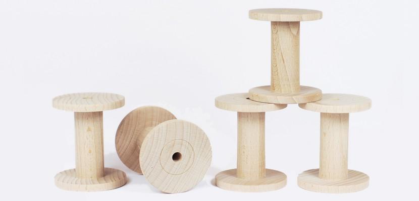 PaperPhine: Wooden Bobbins - Spools