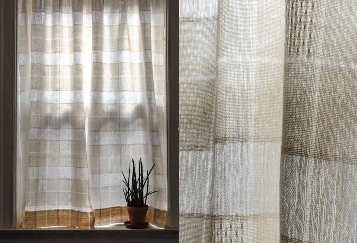 PaperPhine - Erin Supinski - Weaving Brook Bouquet Curtains